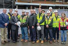 Shawmut Design and Construction celebrates beam signing at BU's $112m Goldman School of Dental Medicine