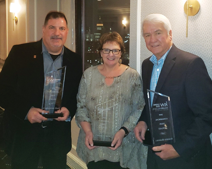 Dalti, Barrera and Corkum of KW Commercial  Leading Edge honored