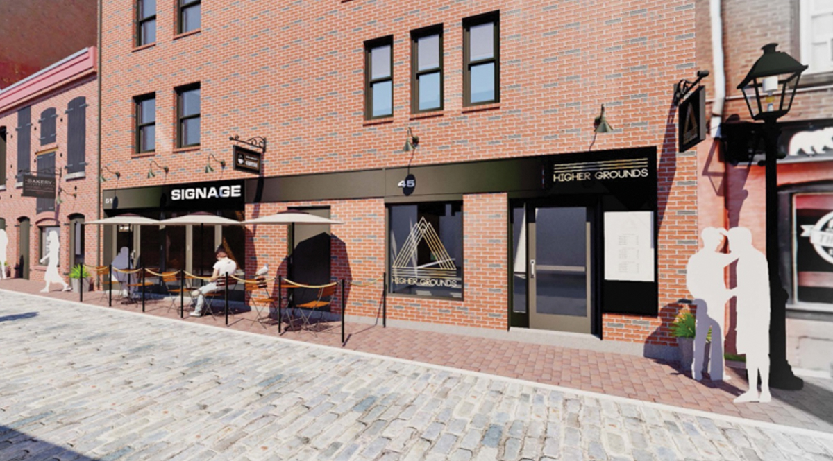 Fore Street Partners welcomes Higher Grounds Café to 45 Wharf Street; NAI The Dunham Group leasing agent
