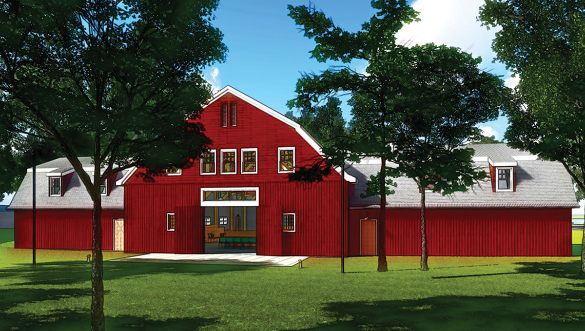 Centerbrook breaks ground on 4,800 s/f Red Barn reconstruction