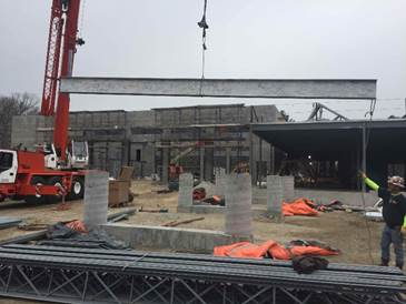 CTA Const. tops off steel for new Plainville Public Safety Building