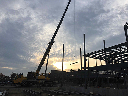 Jm Coull Tops Off First Building Of Waters Corp S