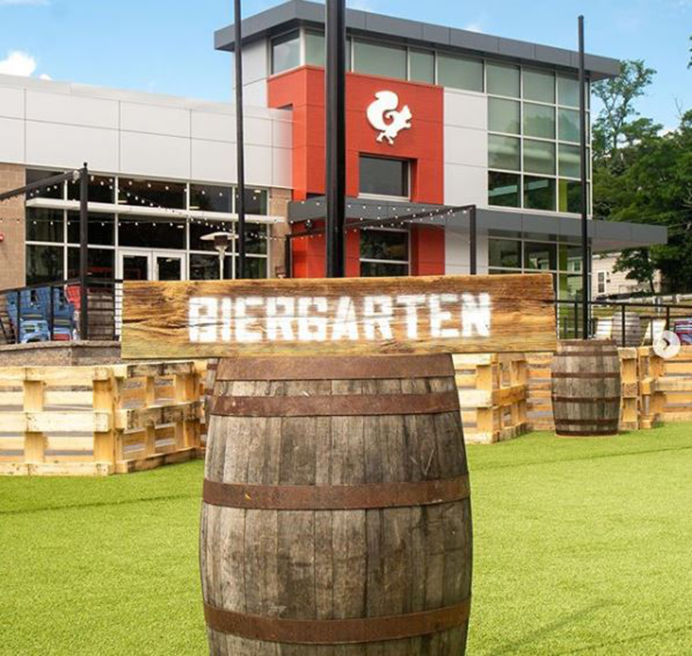 Haynes Group construct a 5,600 s/f outdoor biergarten for Mighty Squirrel in Waltham, MA