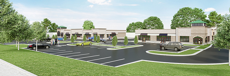 Project of the Month: Flagstone Crossing - The Lannan Company's new 17,900 s/f retail plaza to be built in Hudson, NH