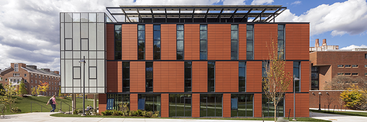 LeersWeinzapfel Associates designed the completed 32,995 s/f Anonymous Hall at Dartmouth College