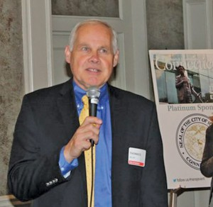 Shown is Thomas Deller, director of development for the City of Hartford speaking at the 2014 event.