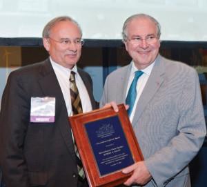 Massachusetts House speaker Robert DeLeo with our Outstanding Legislator Award