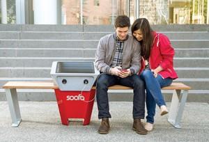 The Soofa bench