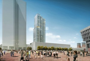 Rendering of Government Center building - Boston, MA