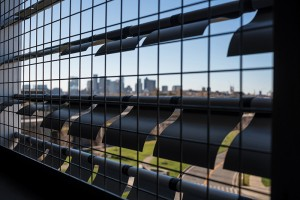 kinetic exterior to distinctively screen the facility at West Garage at Logan Airport, Boston