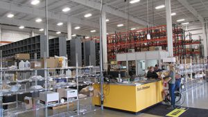 The 14,780 s/f parts warehouse is supported by a parts  warehouse management system that results in 99.7% accuracy