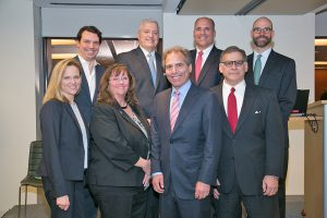 Shown (from left; top row to bottom row) are: Michael DiMella, Charlesgate Realty Group; Michael Hussey, US Bank; Paul Nasser, Intercontinental Real Estate Corporation; Erika Clarke, Novaya Real Estate Ventures, LLC; Melody Skye Roloff, Exit Realty Beatrice Associates; Richard Henken, The Schochet Companies; Jim DerMinasian, Taurus Management Services, LLC. *Not pictured: Matthew Daniels, <a class=