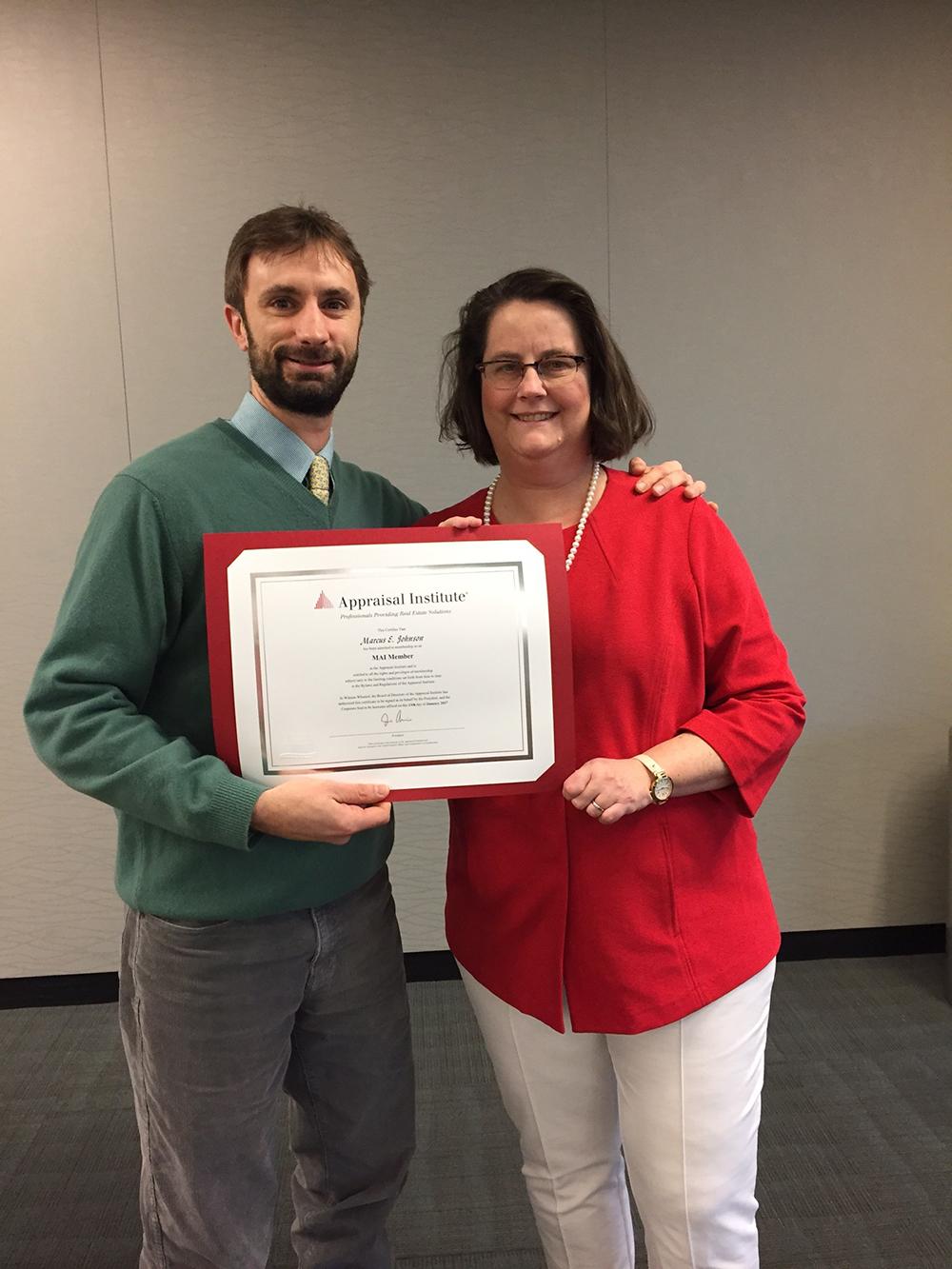 Johnson Of The Appraisers Group Awarded Mai Designation Nerej